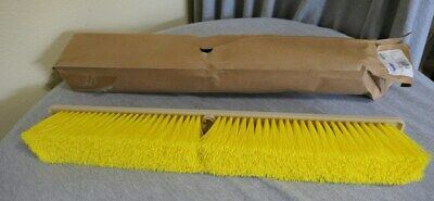 "NEW Weiler Synthetic Medium Sweep Floor Brush 24"" Yellow Broom Head #42166"