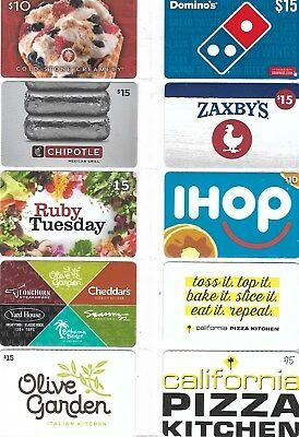 10 Different Food Gift Cards   T1-10
