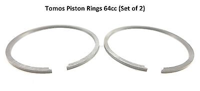 Piston Ring Set 64CC 44MM Pair Moped Scooter Tomos A55 A 55 A35 A 35 44 MM 64 CC