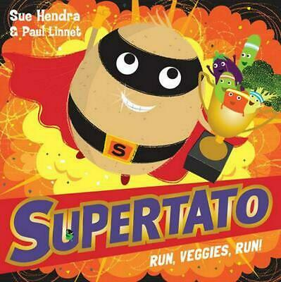 Supertato Run Veggies Run by Sue Hendra Paperback Book Free Shipping!
