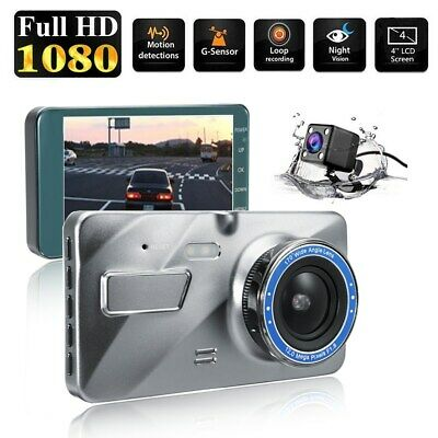 4 Inch Dash Cam FHD 1080P Front and Rear Car Dashboard Camera 170° DVR Recorder