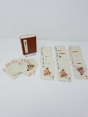Vintage DREAM OF RED MANSION Playing Cards Asian Oriental Japanese Geisha Girls