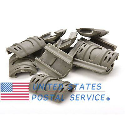 12x Army Green Weaver Picatinny Hand Guard Quad Rail Cover Rubber Mount Tactical