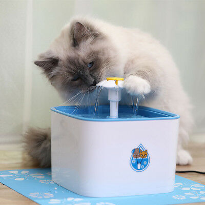 2.5L Flower Automatic Electronic Pet Cat Dog Water Drinking Fountain Bowl Filter