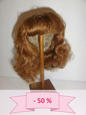 -50% PROMO PERRUQUE de POUPEE T10 (33 cm) 100% cheveux mi-long Chatain-roux