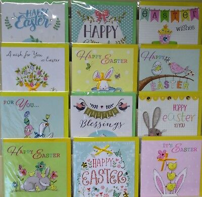 EASTER HANDMADE CARDS X 72, JUST 43p, OUTSTANDING QUALITY, WRAPPED, (ESN