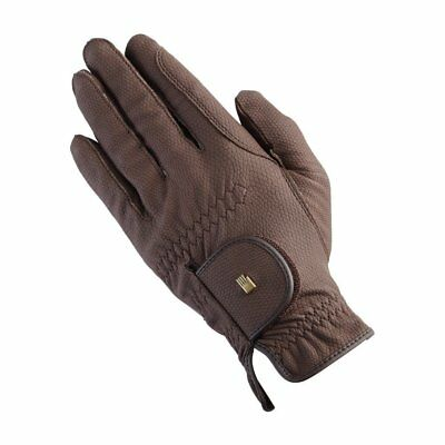 Roeckl Grip Unisex Gloves Competition Glove - Brown All Sizes