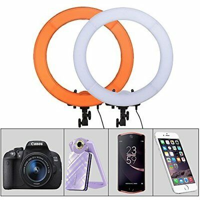 """ZOMEI 19"""" LED Ring Light Dimmable Continuous Lighting Kit Video Camera 18inch"""