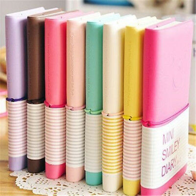 Portable Notebook Pocket Diary Memo Notepad Journal Note Pad PU Leather K07