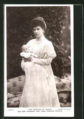 AK The Princess of Wales and her youngest Son John Charles Francis