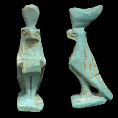 Beautiful Ancient Egyptian Blue Amulet 300 Bc (8)