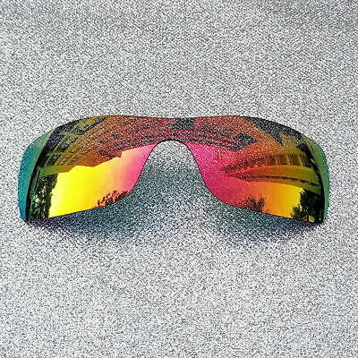 9ebe10507c 2 Sets Fire Red Polarized Replacement Lenses For-Oakley Turbine Rotor  Sunglass