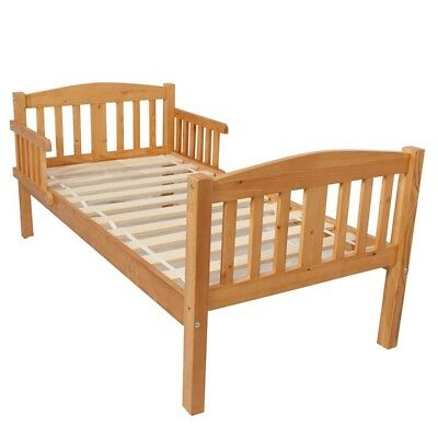 Antique pine wooden toddler bed