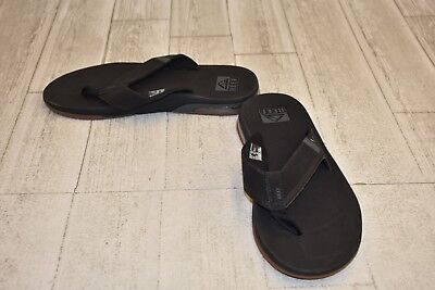 fff85ec59ff4 NEW MEN REEF Sandals Flip Flop Fanning Black Brown Bottle Opener ...