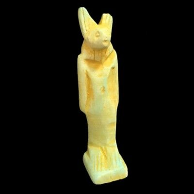 Beautiful Ancient Egyptian Blue Amulet 300 Bc (11)