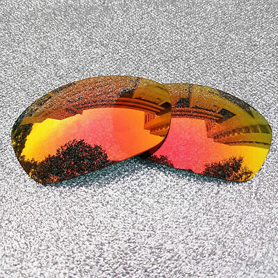 8ee07e5792 FIRE RED MIRRORED Polycarbonate Replacement Lenses For-Oakley Juliet ...