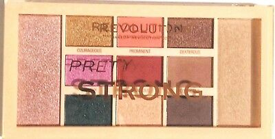 MAKEUP REVOLUTION Pretty STRONG EYESHADOW & HIGHLIGHTER Palette Bright Colours