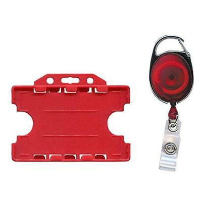 ACB ACBL-OS-2025 Premier Badge Reel And Double Sided Id Card Holder - Red