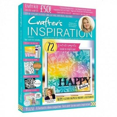 Crafters Inspiration Magazine Issue 21 With Free £50 Craft Kit Die Stamps  2019
