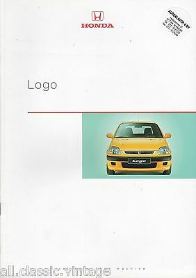 HONDA - Logo prospekt/brochure/folder Dutch 1999
