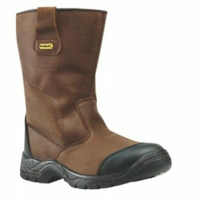 Stanley Ashland Waterproof Safety Rigger Boot Brown size 7