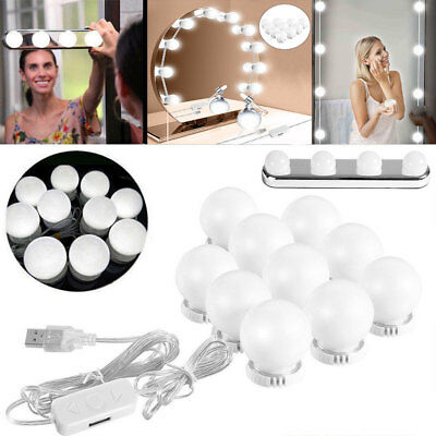 Make Up Mirror Lights 4/10 LED Kit Bulbs Vanity Light Dimmable Lamp  Hollywood