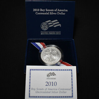 2010-P Boy Scouts Of America Uncirculated Silver Dollar