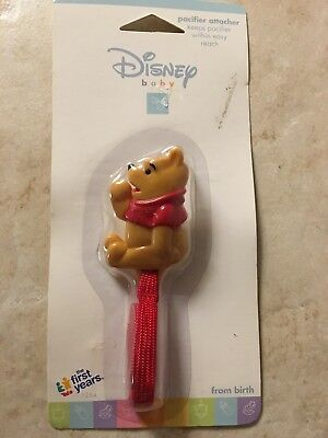 Vintage The First Years Disney Baby POOH Retainer Clip Holder NEW