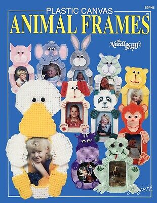 Animal Frames ~ 11 Animal Photo Frames plastic canvas pattern booklet