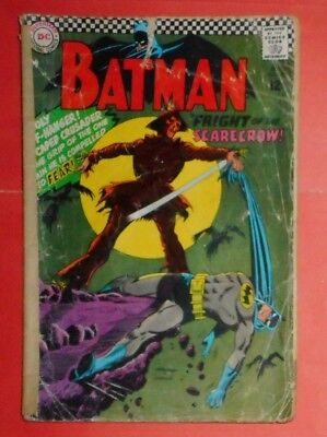 Batman # 189 , First Silver Age Appearance Of Scarecrow, 1967. ( Well Battered )