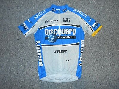 e2757d452 Nike Italy Dri-Fit Mens Large Discovery Channel Livestrong Cycling Jersey