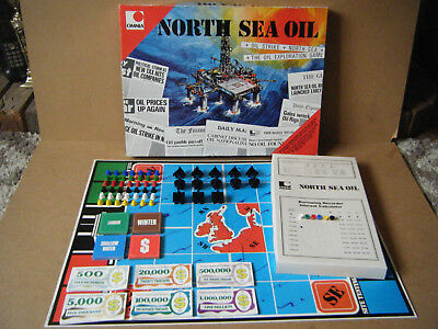 "Vintage ""NORTH SEA OIL"" Oil Tycoon board game. By Omnia games 1974. Complete."