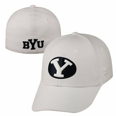 low priced 0c43f 4a562 Byu Cougars Official NCAA One Fit Premium Cuff Hat Cap by Top of the World