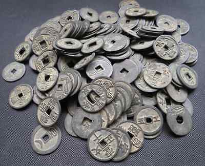 Mixture 100pc Chinese Bronze Coin Old Dynasty Antique Currency Cash 31-35mm