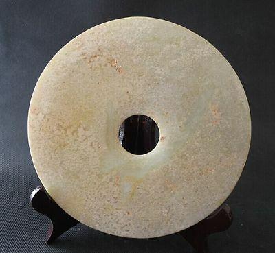 """6.9""""Antique Chinese ancient aristocratic White HeTian jade collection wall 18th"""