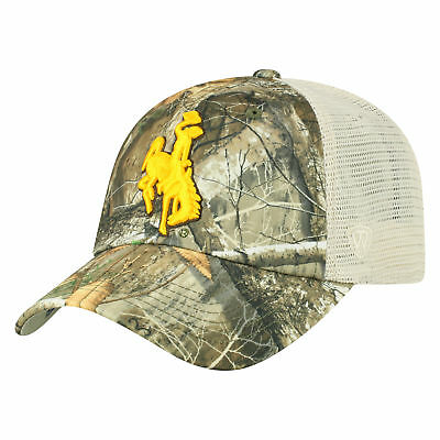 783bd3d2d8beb Wyoming Cowboys NCAA Adjustable Sentry Realtree Poly Twill and Mesh Hat Cap