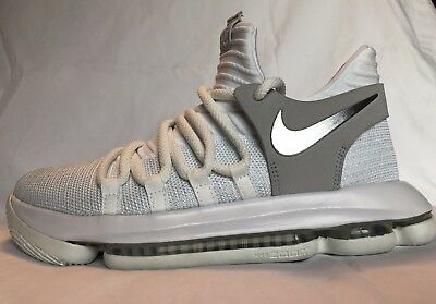 new product 017f1 571ce Nike Zoom KD10 GS Youth Grade School Basketball Shoes White Chrome  918365-100 5Y