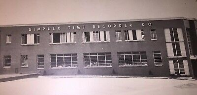 Vintage Framed Picture - Simplex Time Recorder Co. - Factory / Offices