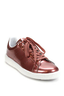 new product cb5b2 0a547 Adidas Stan Smith Womens Lace Up Low Top Sneakers Metallic Red Size 7.5