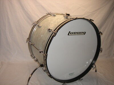 """Vintage 1974 Ludwig 14 X 24"""" Classic 3-Ply Bass Drum w/Older 60's Pattern WMP"""