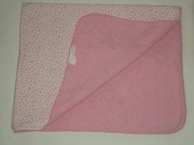"""Amy Coe Pink Flower Floral Limited Edition 100% Cotton Blanket  29"""" x 36"""""""