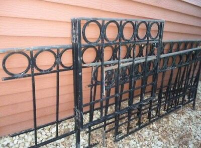 Architectural mid century modern Iron Fence And Gate Circles Hoops Palm Springs