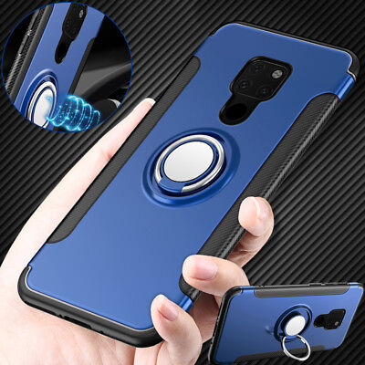 For Huawei Mate 20 Pro Y9 2019 Shockproof Bumper Magnetic Ring Holder Case Cover