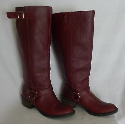 e05282e80c27 NEW TROTTERS WOMENS Lyra Wide Calf Cognac Tumbled Leather Boots Size ...