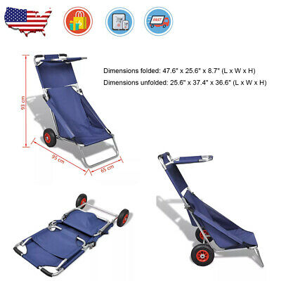 9ace78ca0207 FOLDABLE HAND TRUCK Utility Garden Wagon Trolley Cart Camp Beach Buggy Fold  Up