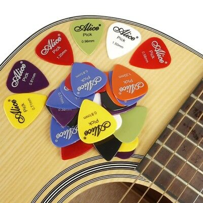 24pc-100pcs Music Electric Guitar Bass^Acoustic Pick Plectrum Assorted Thickness