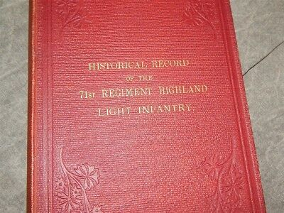 1876 Historical Record of the 71st Regiment Highland Light Infantry~VERY RARE