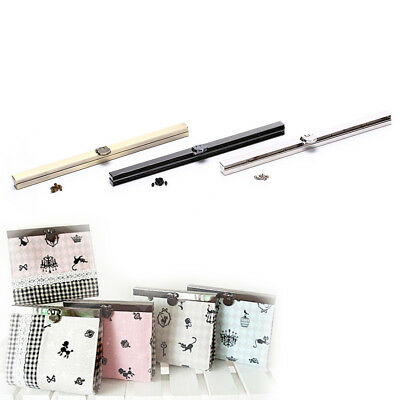 19cm Purse Wallet Frame Bar Edge Strip Clasp Metal Openable Edge Replacement S!