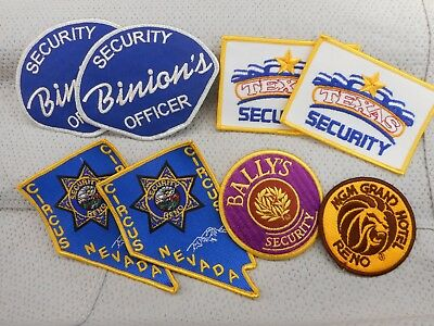Trader lot of 8 Nevada casino security patches - free postage