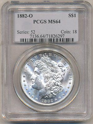 1882-O Morgan PCGS MS-64 Uncirculated Silver Dollar Coin Nice New Orleans Mint